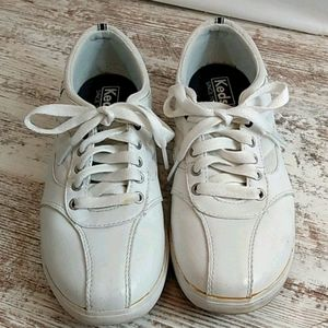 Keds White Leather Ortholite Sneakers Lace up